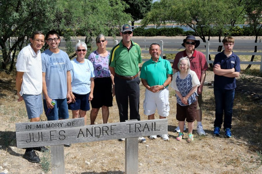 Adult Ranchers at Rainbow Acres go for a hike at Jules Andre Trail in Camp Verde, AZ