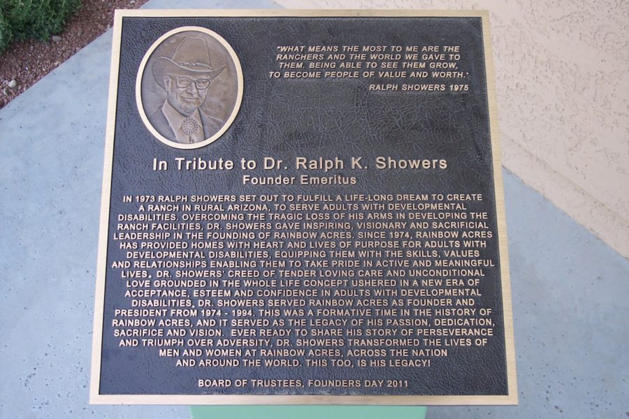 History of Rainbow Acres: Founded by Dr. Ralph K. Showers for adults with developmental disabilities