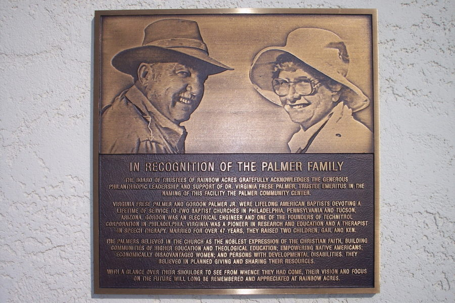 Become a donor! Rainbow Acres was built and is sustained by donors like the Palmer Family, for whom the Palmer Community Center is named.
