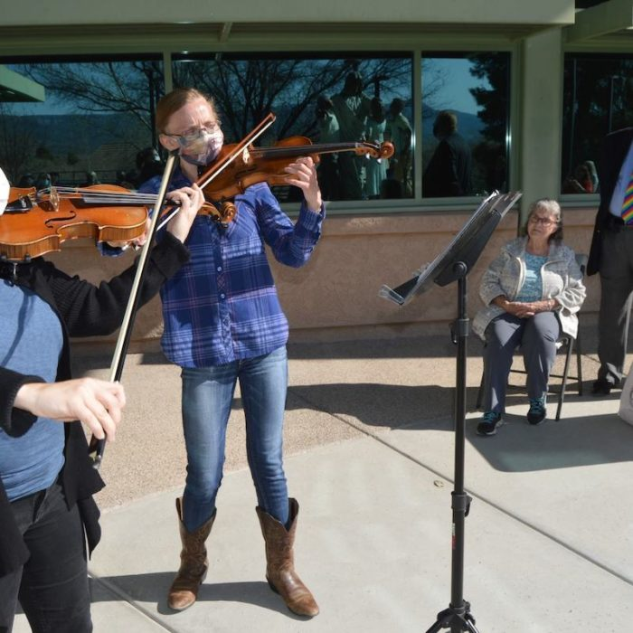 Rainbow Acres violinists play at our 2021 Employee Appreciation Day Event